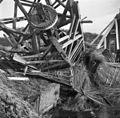 """Watermolen """"Oosterpolder"""", omgewaaid tijdens storm op 9 november 1969 - Slochteren - 20200981 - RCE.jpg"""
