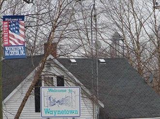 Waynetown, Indiana - Image: Waynetown sign