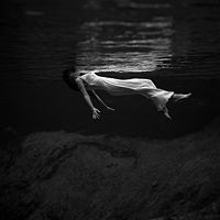 woman swimming/une femme nage...
