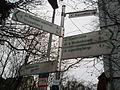 Wegekreuz im Radroutennetz Marburg in Fahrradstrasse 'Auf der Weide' 2016-03-25.JPG
