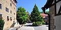 Weikersheim-Laudenbach im Vorbachtal. Der Schlosshof.JPG