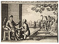 Wenceslas Hollar - Abraham's servant at the well of Nahor (State 3).jpg