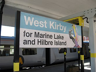 West Kirby railway station - West Kirby station sign
