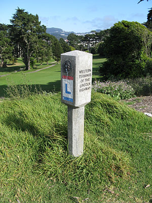 Lincoln Park (San Francisco) - Western terminus of the Lincoln Highway-San Francisco