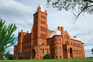 Westminster, Colorado - Westminster University, also known as Westminster Castle is listed on the National Register of Historic Places and overlooks the city of Denver.