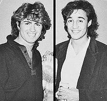 George Michael (izquierda) y Andrew Ridgeley (derecha), 1984-1985