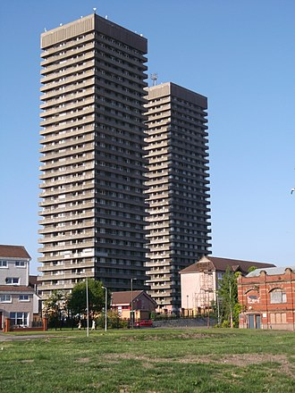 Bluevale and Whitevale Towers - The towers in 2014