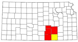 Wichita, KS Metropolitan Statistical Area - Image: Wichita Winfield CSA