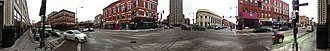 West Town, Chicago - The intersections of North Ave, Damen and Milwaukee in 2010