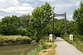 Wiener Neustädter Kanal, suspension bridge, Dornau.jpg