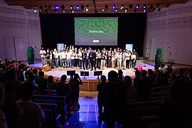 Wikimania Stockholm 2019-08-18 closing ceremony 26 Volunteers MW.jpg