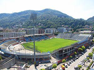 Stadio Giuseppe Sinigaglia - Image: Wikimania by Rehman Wikimania Takes Lake Como (27)