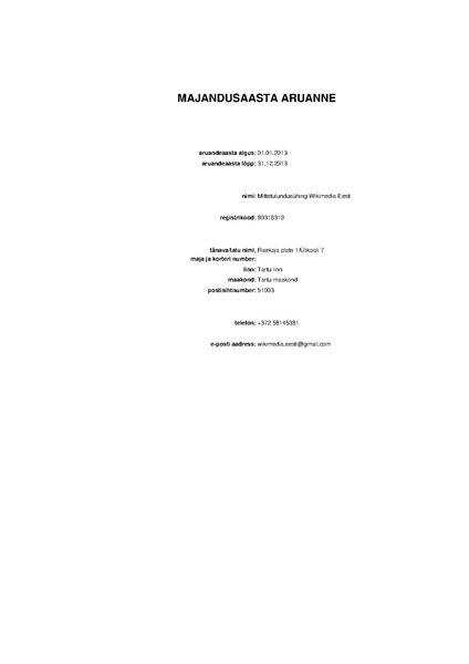 File:Wikimedia Eesti financial statement 2013 (Estonian).pdf