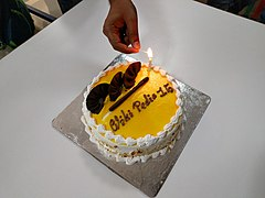 Wikipedia 15 Cake at Bengaluru .jpg
