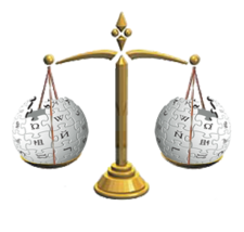 Wikipedia scale of justice.png