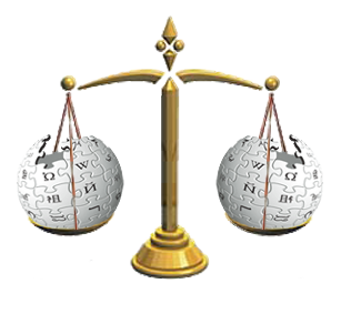 Wikipedia scale of justice