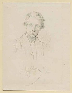 Eugen Napoleon Neureuther - Eugen Napoleon Neureuther. Drawing by Wilhelm Gail, ca. 1850