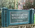 Willamette University entrance sign.JPG