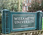 Entrance to Willamette University