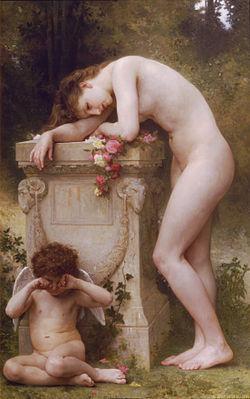 élégie et manque d'amour peinture utopique de William Bouguereau, XIXesiècle