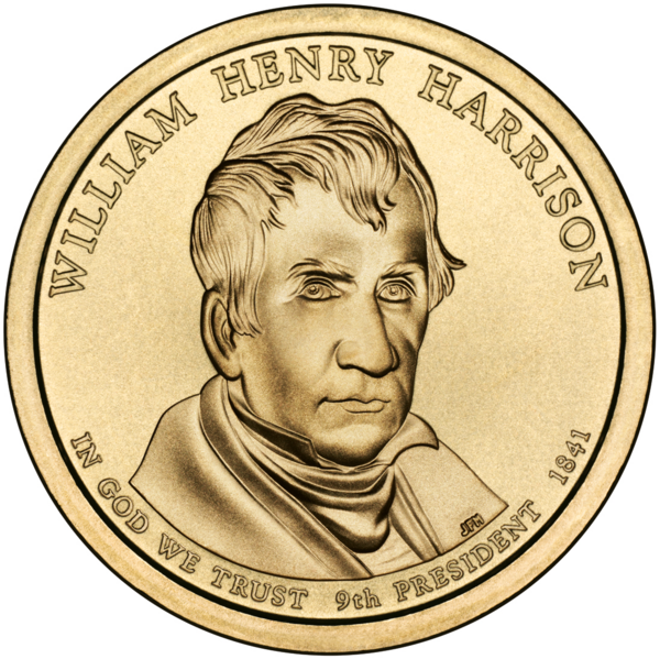 Fichier:William Henry Harrison Presidential $1 Coin obverse.png