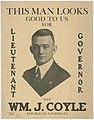 William J Coyle for Lieutenant Governor poster, Seattle, 1920 (MOHAI 14035).jpg