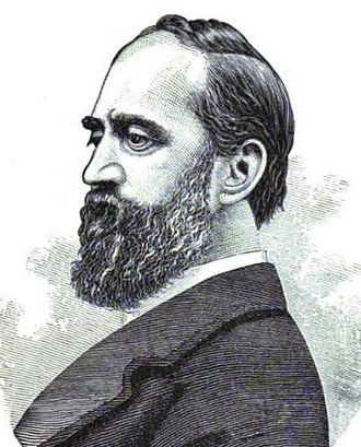 """William Orton (businessman) - William Orton in 1882's """"The Royal Road to Wealth: How to Find and Follow It""""."""