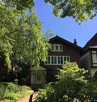 William S. Burroughs - William S. Burroughs' childhood home on Pershing Avenue in St. Louis