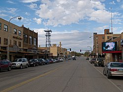 Business district of Williston