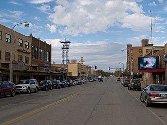 Williston, North Dakota - Business district of Williston