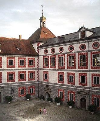 Schloss Wolfegg - Schloss Wolfegg courtyard (2005)