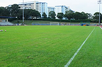 Woodlands Wellington FC - Woodlands Stadium's grass pitch