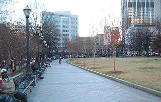 Woodruff Park park in Atlanta, Georgia