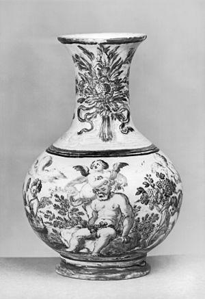 Francesco Antonio Xaverio Grue - Small Urn with Silenus by Francesco Antonio Xaverio Grue, Walters Art Museum, 1720