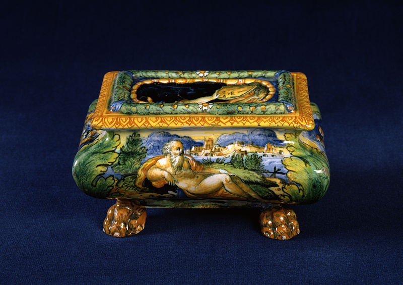 Workshop of Guido Durantino - Salt Cellar with a River God - Walters 481338 - Profile.jpg