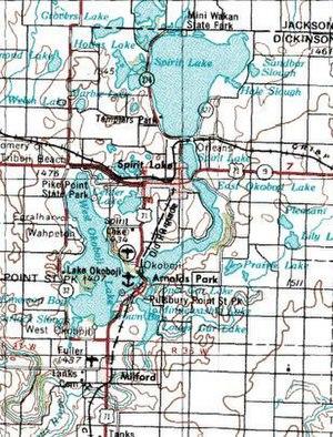 Spirit Lake, Iowa - Image: Wpdms usgs iowa great lakes