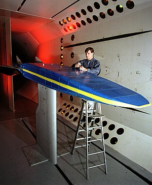 X-30 model in a wind tunnel