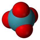 Space-filling model of the xenon tetroxide molecule