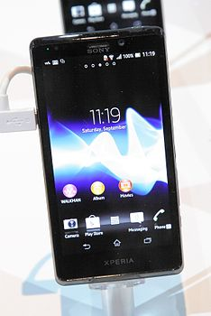 Xperia V auf der Internationalen Funkausstellung 2012 in Berlin 1 PD.JPG
