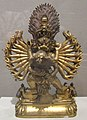 Yamantaka statue from Tibet, 19th century, gilt bronze, Honolulu Museum of Art.JPG