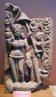 Yamuna, personificazione del fiume sacro yamuna, IX sec