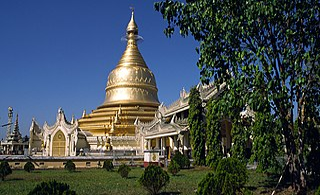 Maha Wizaya Pagoda graceful golden pagoda