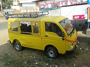 Tata Ace - Image: Yellow color minivan 2013 12 30 18 58