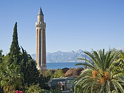 The Fluted Minaret (Yivli Minare) is the symbol of the city.