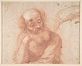 Young Woman on a Cloud with Three Figures (recto); Studies of an Old Man and a Hand (verso) MET DP809796.jpg