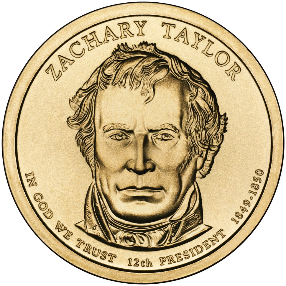 Zachary Taylor Presidential $1 Coin obverse