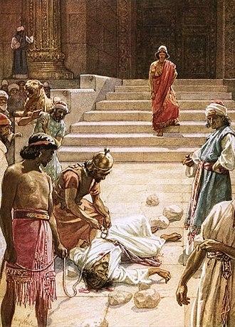 Zechariah ben Jehoiada - The Murder of Zechariah by William Brassey Hole.