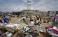 Zicht op markt met haven op de achtergrond - Elmina - 20374859 - RCE.jpg