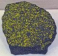 Zippeite (or natrozippeite) on coffinite (Section 35 Mine, Ambrosia Lake District, New Mexico, USA) (31186815032).jpg
