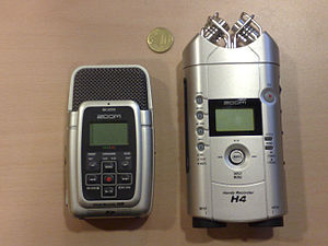 Zoom H4 Handy Recorder - H2 and H4 with 10 eurocents for scale